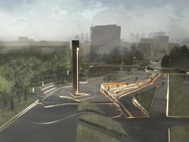 В центре Тюмени на месте парковки создадут зону отдыха с памятником